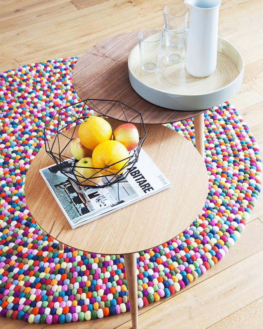 meuble personnalisable mycs table basse bois ronde