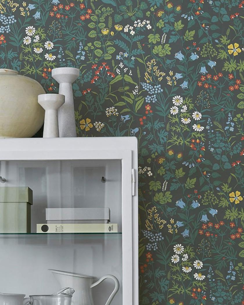 papier peint chambre fleur champêtre