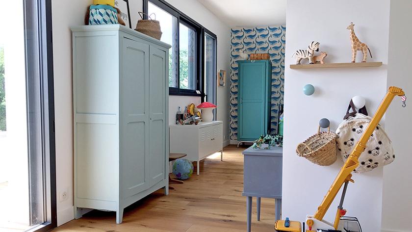 armoire parisienne deco pastel chambre enfant