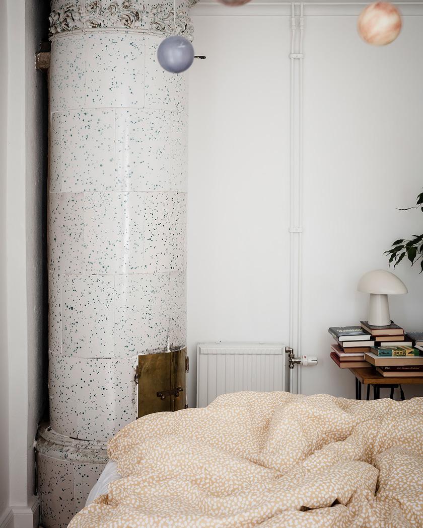 deco rustique moderne chambre cheminée céramique