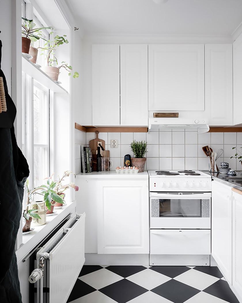 deco rustique moderne cuisine blanche