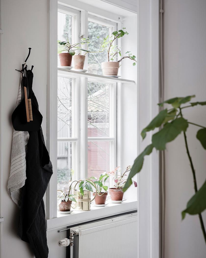 deco rustique moderne cuisine blanche fenêtre
