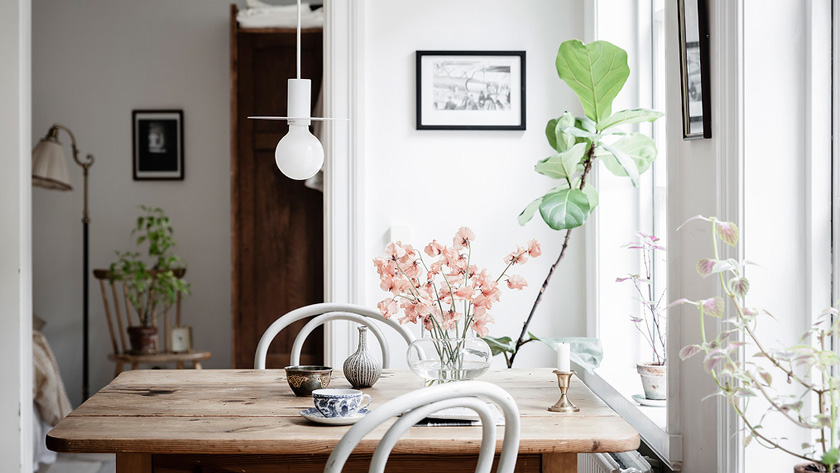 deco rustique moderne salle à manger table bois