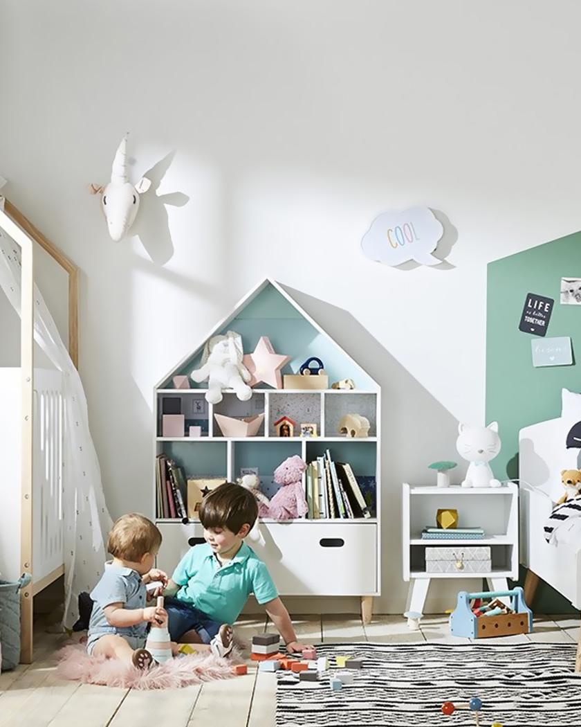 rangement chambre enfant étagère maison