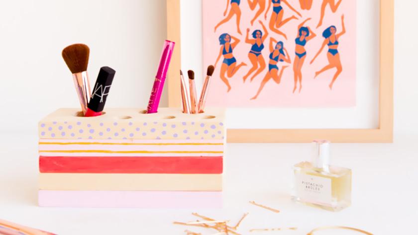 rangement maquillage diy bois