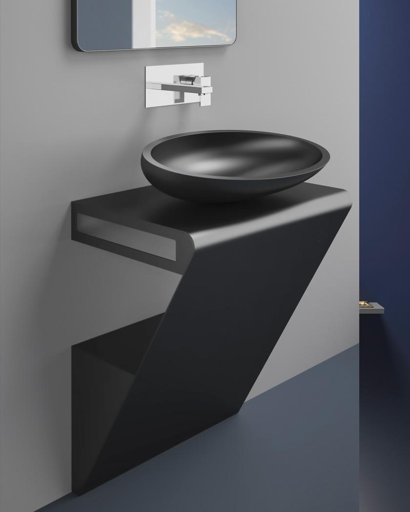 salle de bain mooze uniko meuble masque noir moderne
