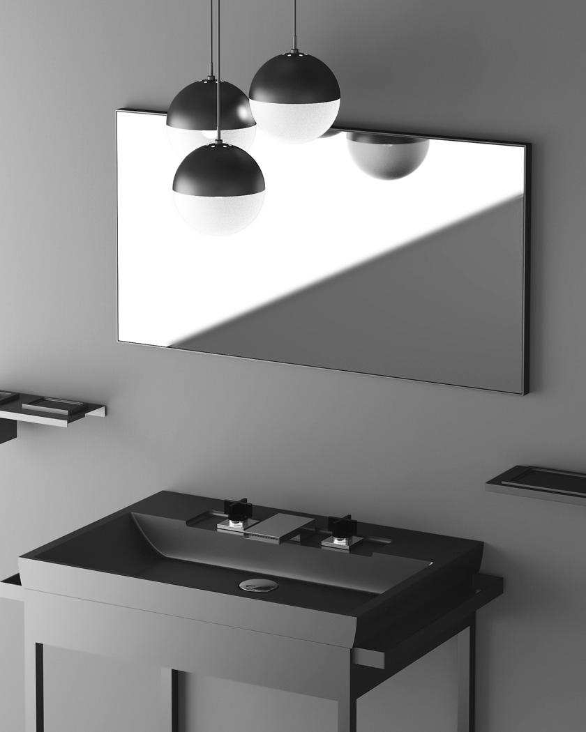 salle de bain mooze uniko miroir noir