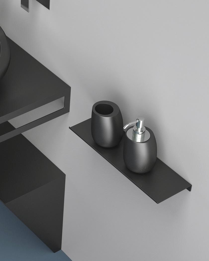 salle de bain mooze uniko étagère moderne noire