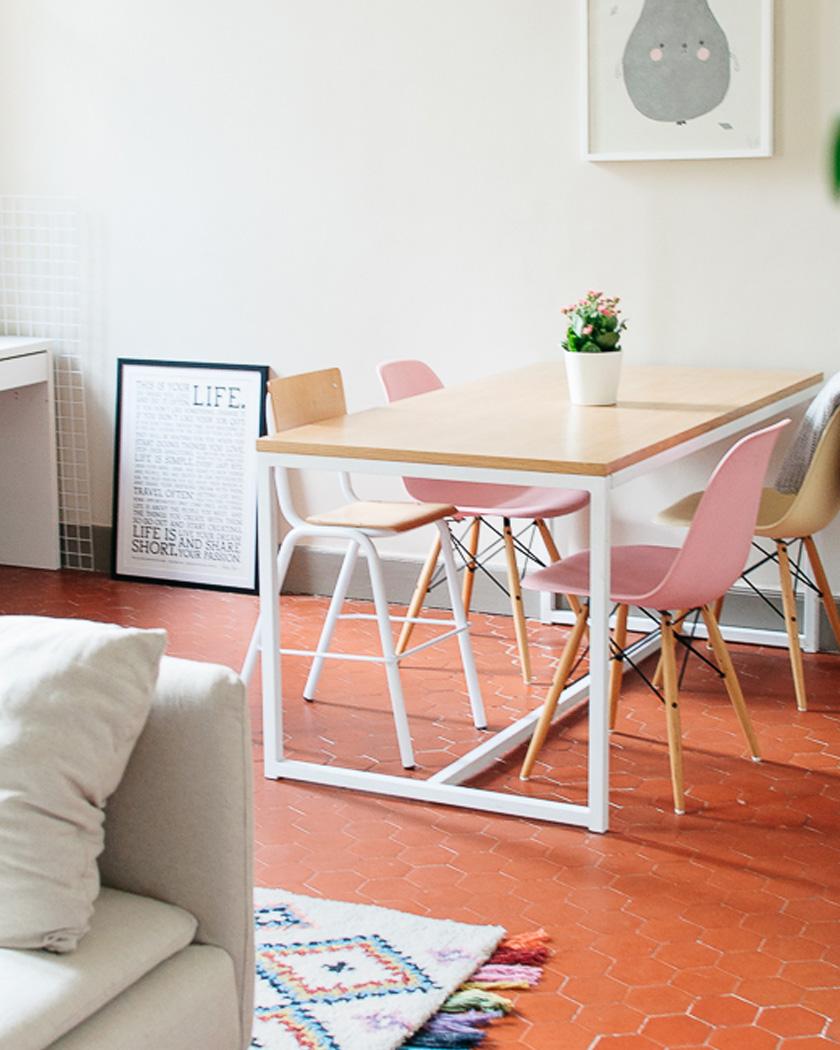 deco sol terre cuite salle à manger moderne