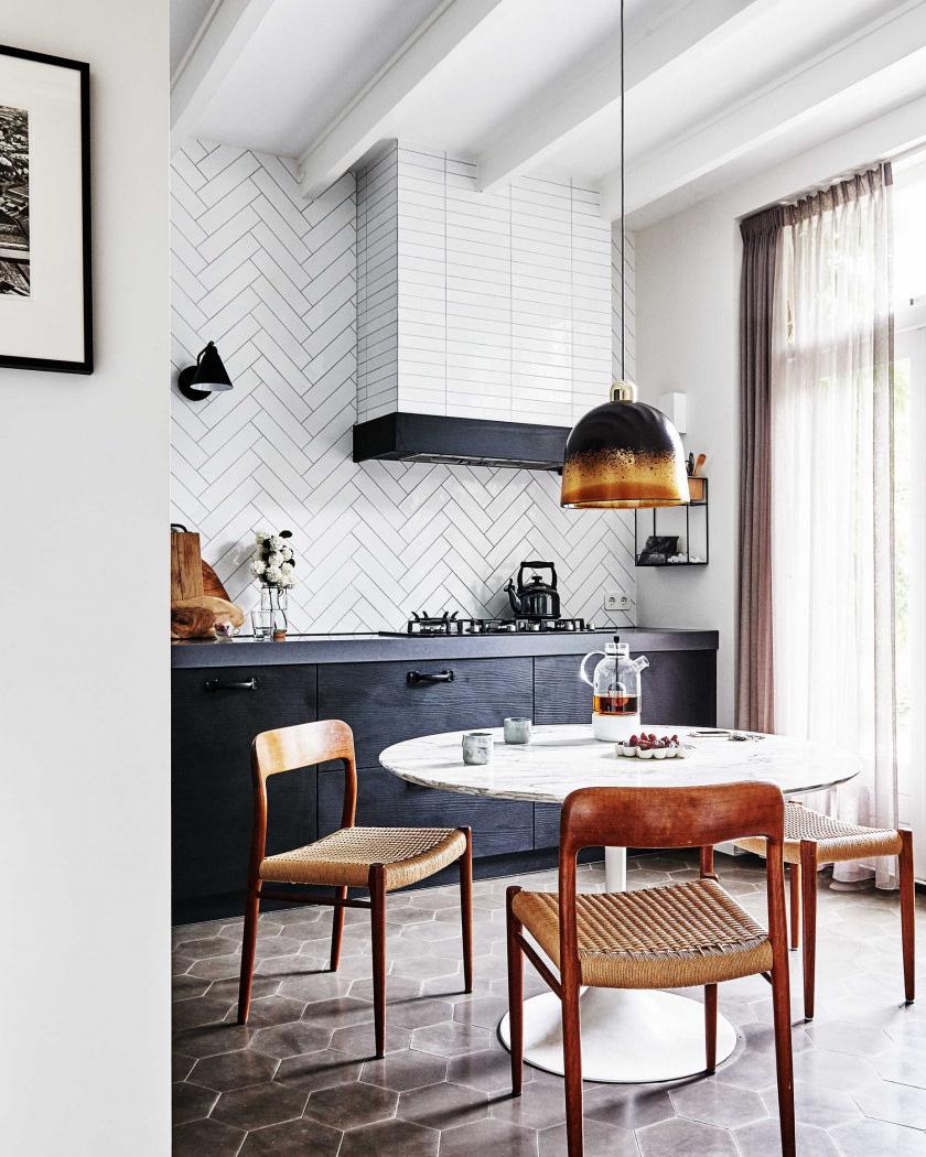 deco sol terre cuite cuisine moderne et retro