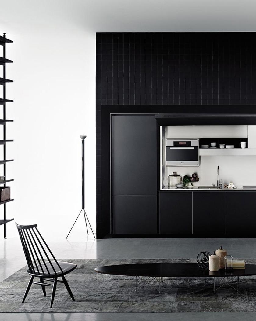 deco noir cuisine contemporaine