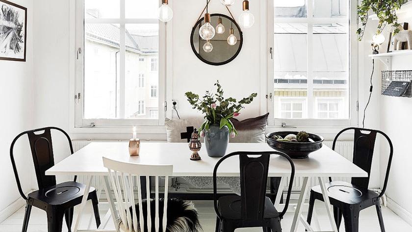 deco noir blanc salle à manger