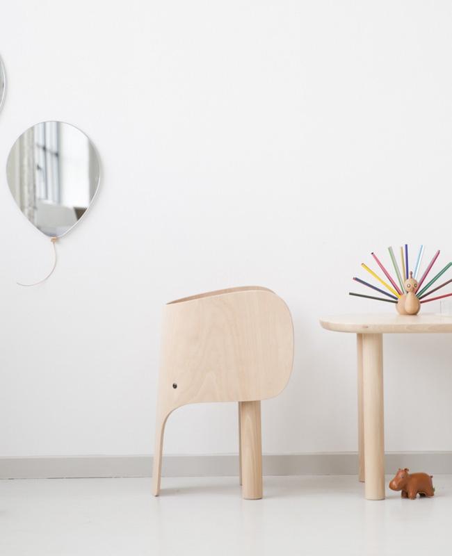 chaise enfant deco éléphant