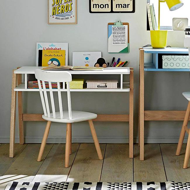 chaise enfant deco scandinave blanche