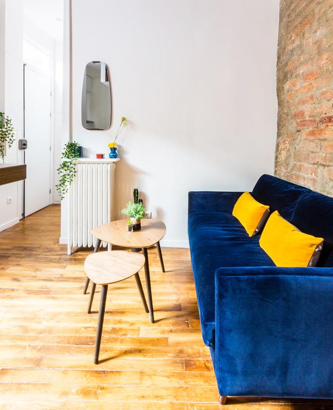 deco studio vintage industriel salon