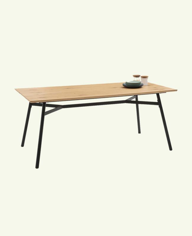 table bois pieds noirs