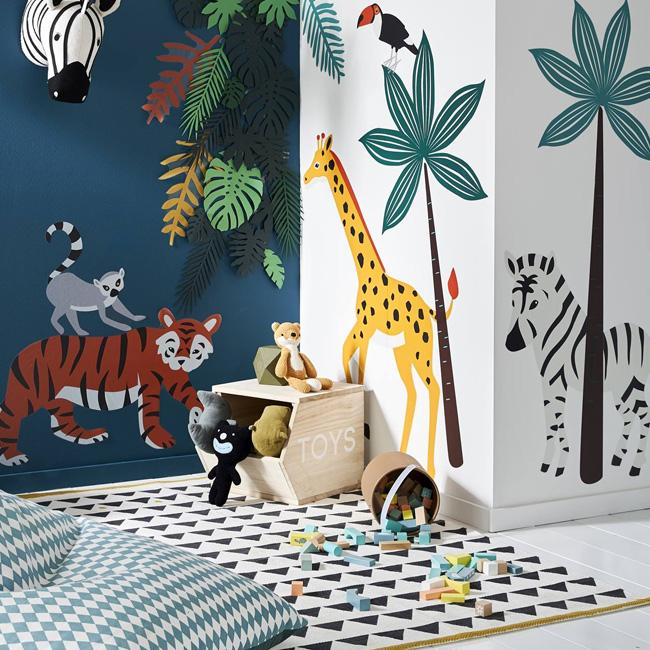 deco enfant jungle stickers xl