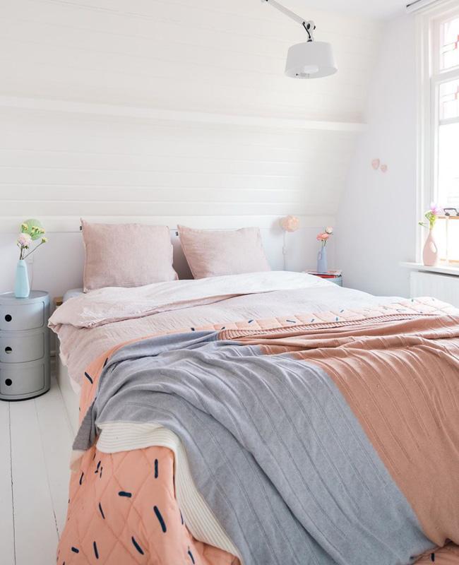 deco fun colorée zilverblauw chambre
