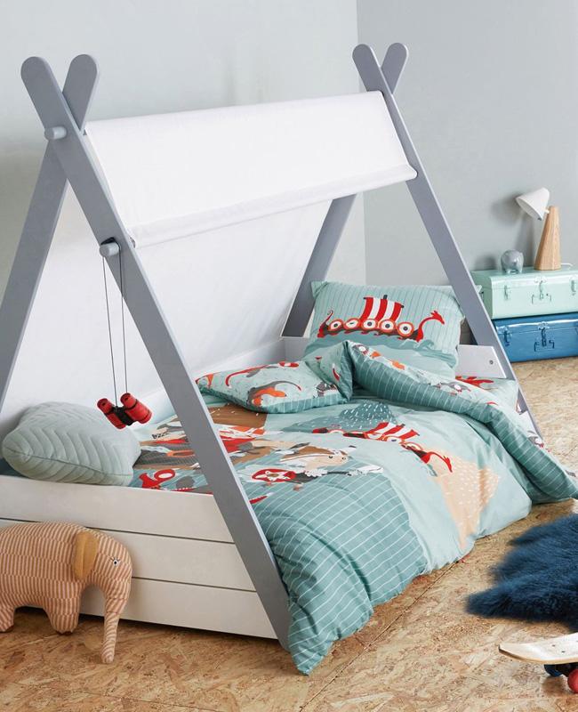deco lit chambre enfant tipi