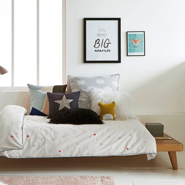 deco lit chambre enfant plateforme bois