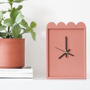 ikea hack lustigt horloge terracotta diy