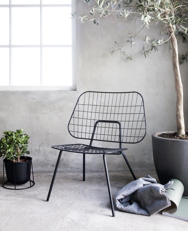 fauteuil jardin deco métal noir