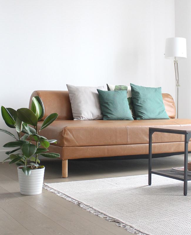 housse canapé ikea comfort works cuir marron