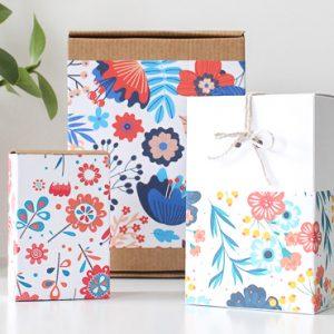 paquet cadeau printable fleur