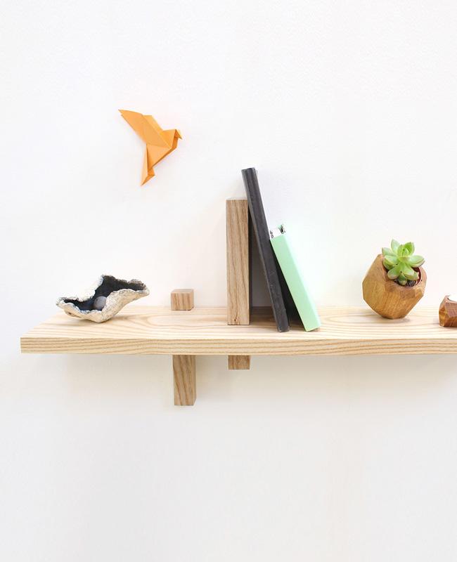 atelier des créateurs étagère murale frêne