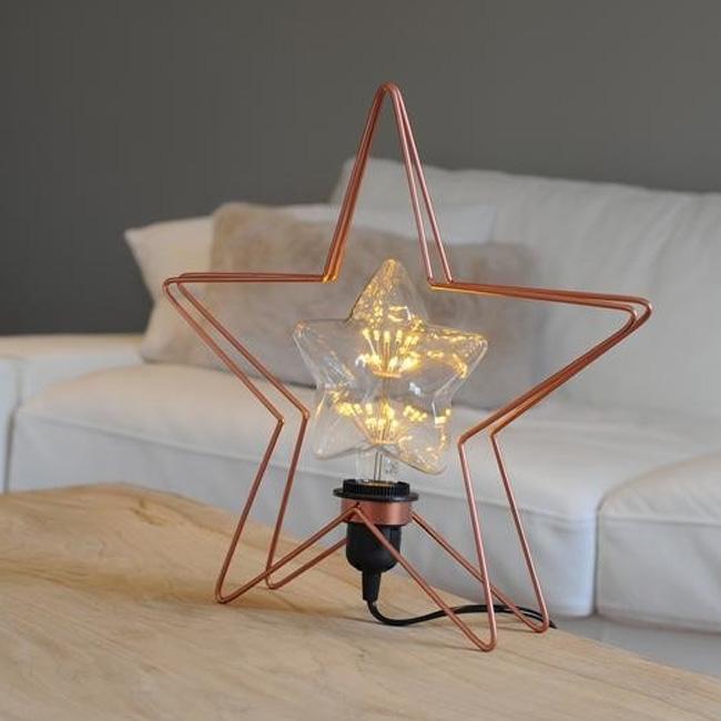 atelier des créateurs lampe étoile cuivre