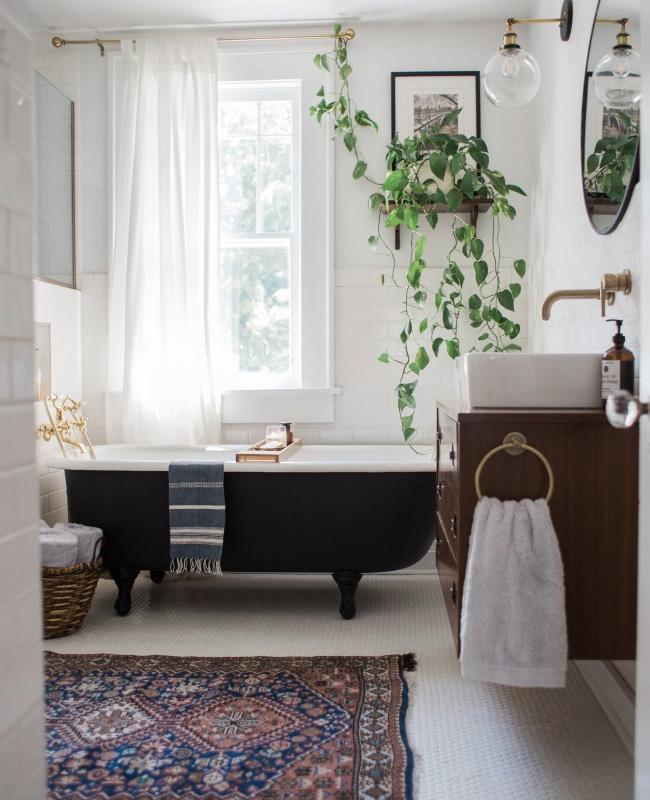 deco salle de bain boheme tapis persan
