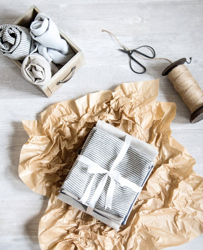 etsy cozy linen serviettes lin gris