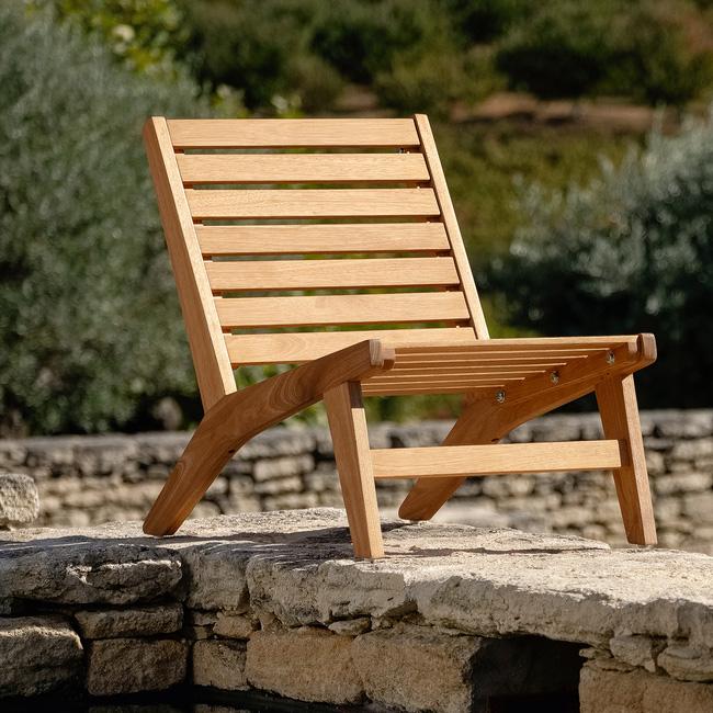 soldes été alinéa fauteuil bois bas jardin