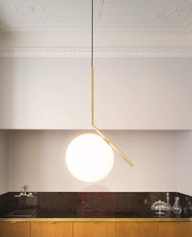 suspension laiton moderne globe flos