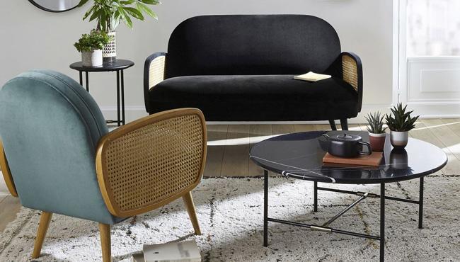 table basse marbre noir