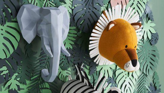 trophée mural jungle enfant