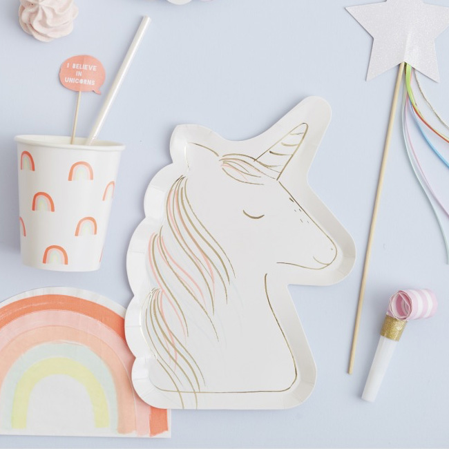accessoire deco anniversaire licorne serviette papier