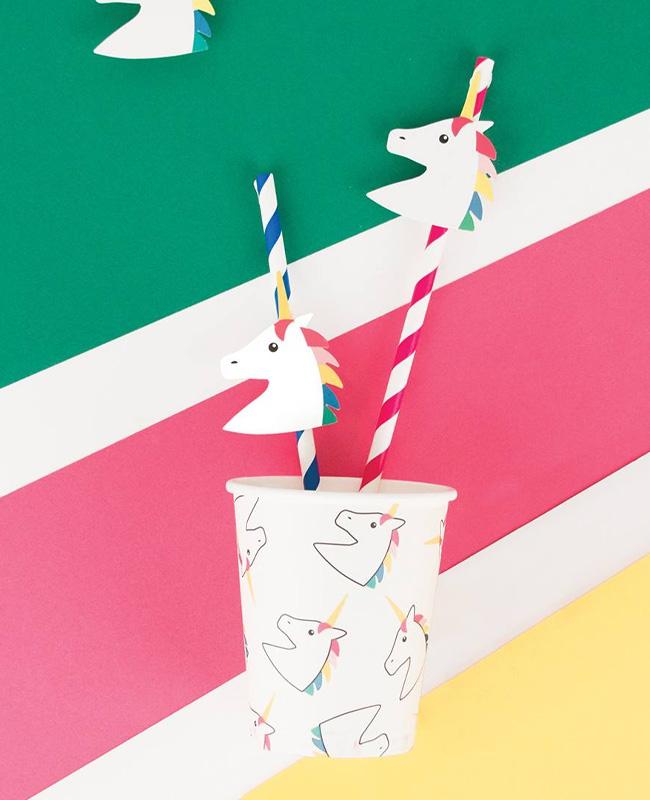 accessoire deco anniversaire licorne gobelet carton