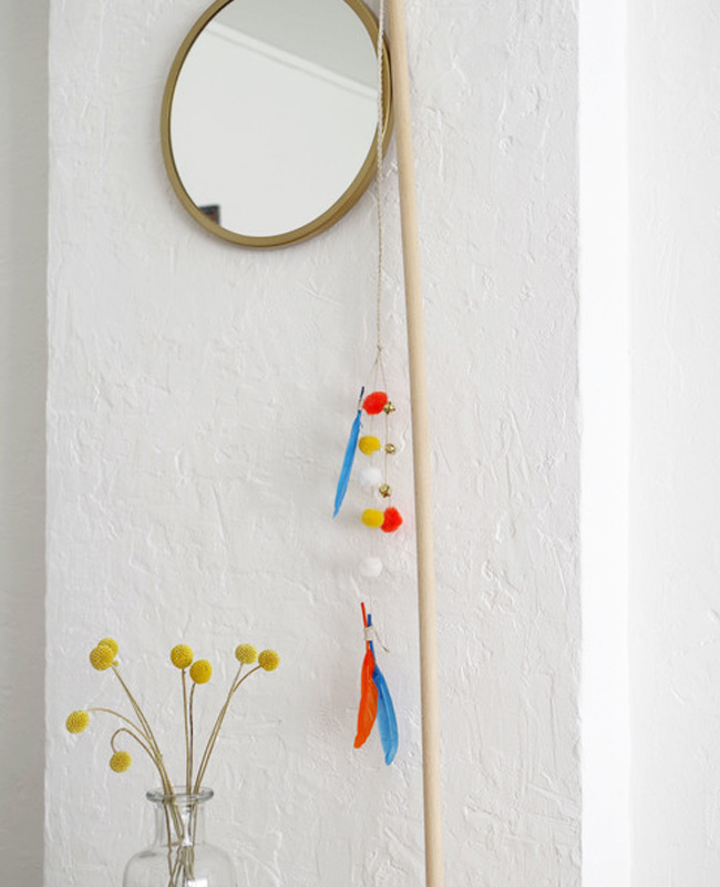 jouet chat diy canne plume