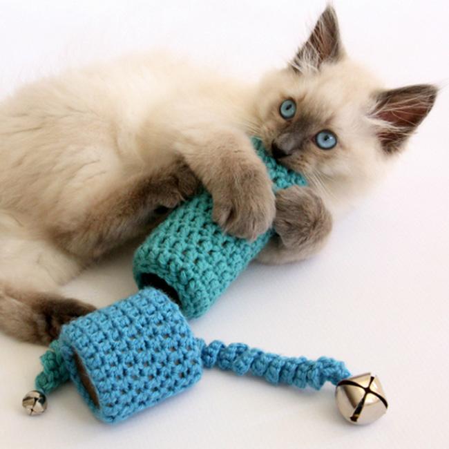 jouet chat diy tricot chaton