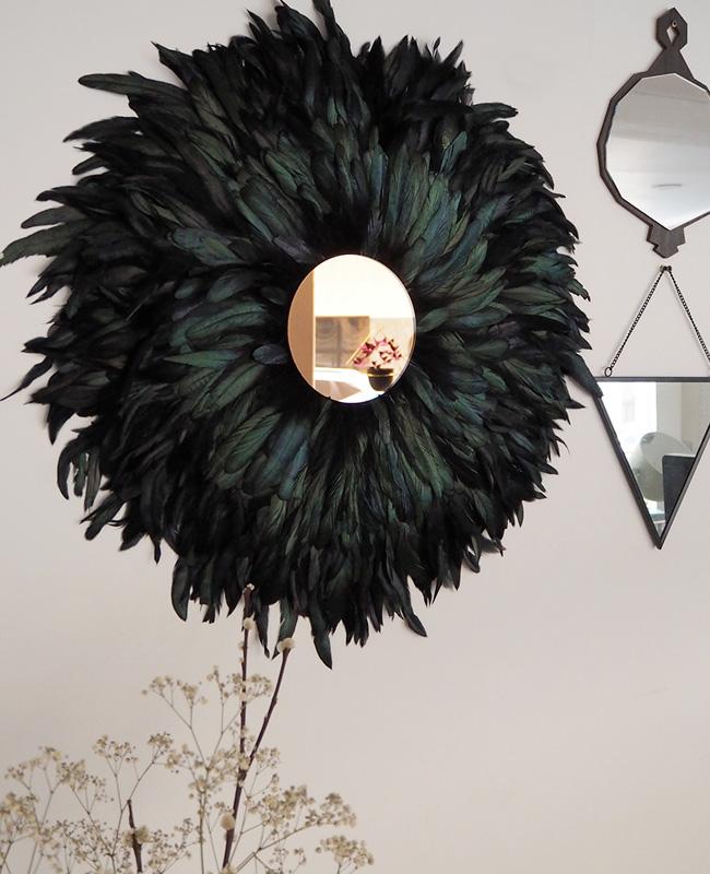 juju hat diy miroir plume noir