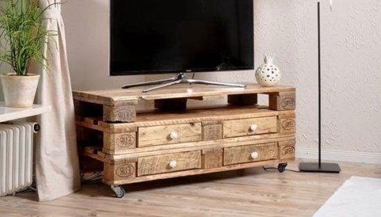 meuble tv palette diy