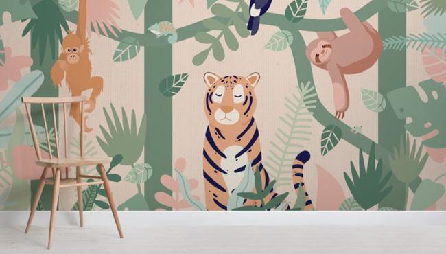 papier peint enfant urban jungle