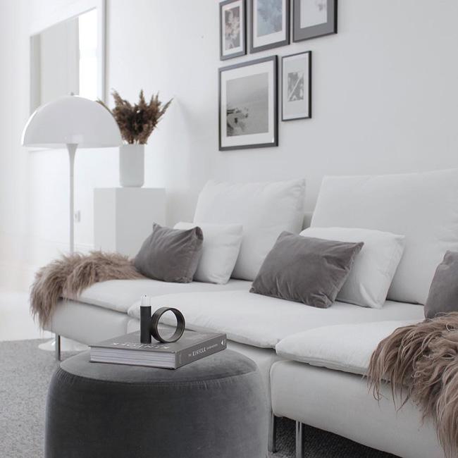 visite deco minimaliste canapé blanc