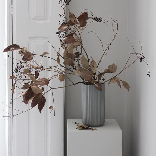 visite deco minimaliste bouquet fleurs séchées
