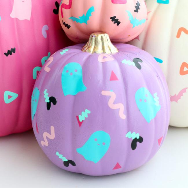 citrouille peinture halloween diy memphis