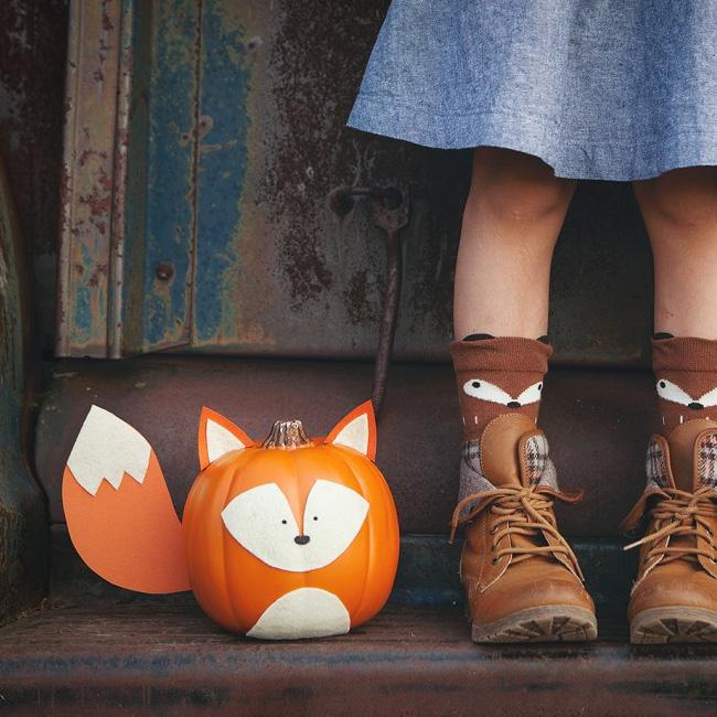 citrouille peinture Halloween diy renard