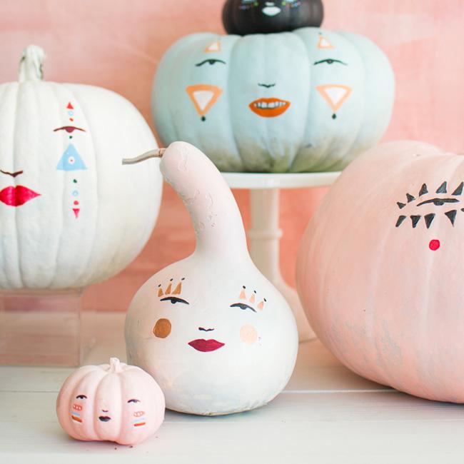 citrouille peinture halloween diy visage