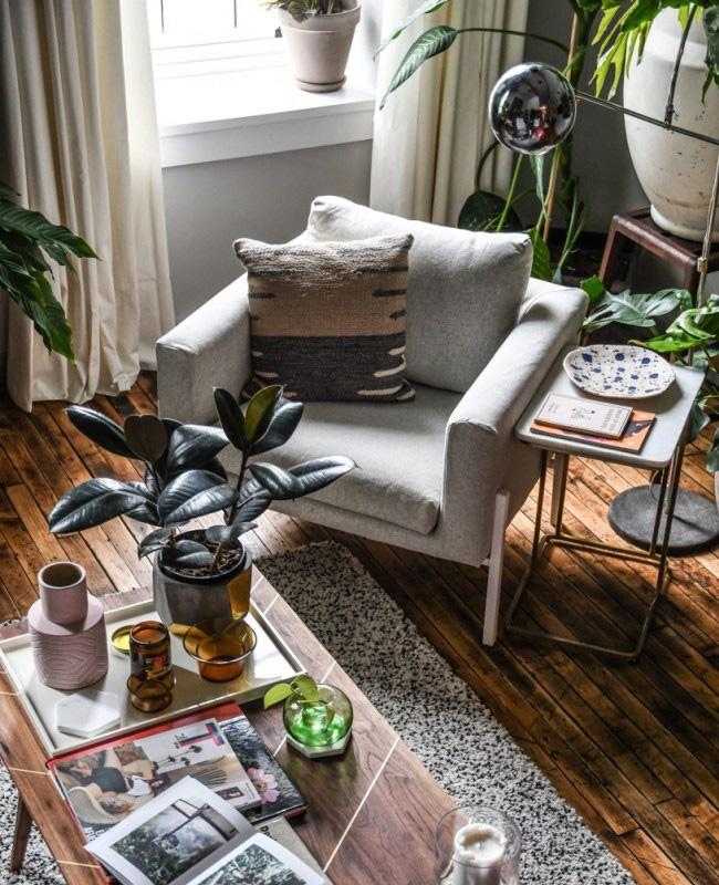 deco appartement urban jungle salon