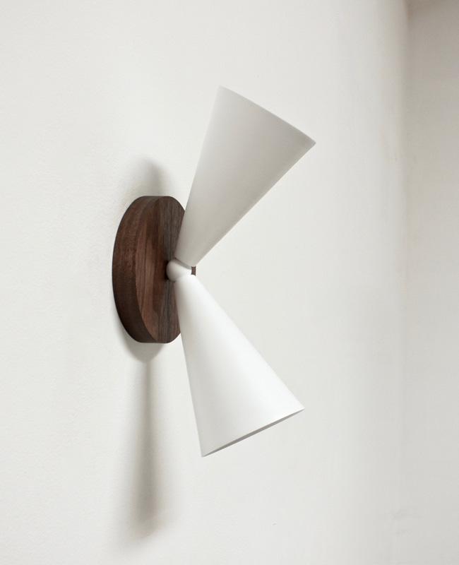 etsy luminaire nino shea applique cone double blanc